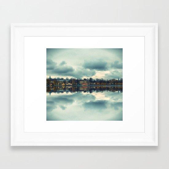 Stockholm upside-down Framed Art Print