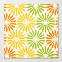 Zesty Burst Canvas Print