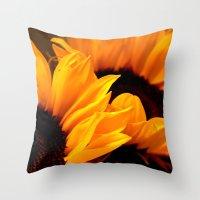 Sunflowers For My Belove… Throw Pillow
