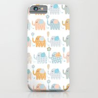 elephants iPhone & iPod Cases featuring Elephants by Claire Brown Surface Pattern