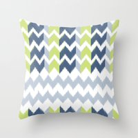 Modern Ikat Throw Pillow