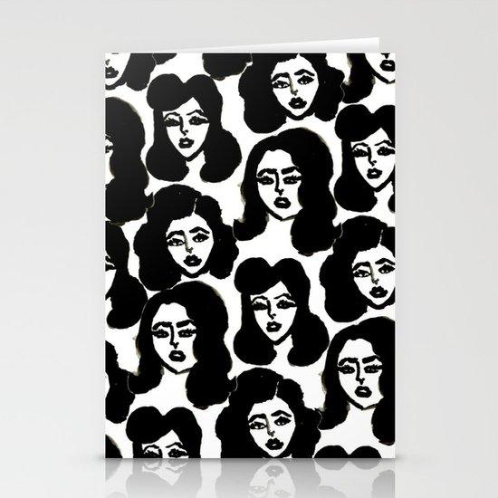 Retro Girls Stationery Card