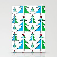 Christmas Tree Pattern Stationery Cards