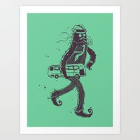 I Hate Taking The Bus To Work Art Print