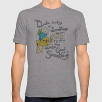 Adventure Time! Mens Fitted Tee Athletic Grey SMALL