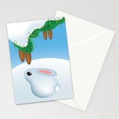 Winter bunny Stationery Cards