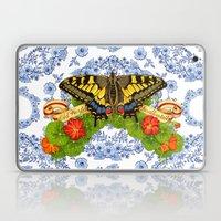 Swallowtail Butterfly and Blue Rhapsody Laptop & iPad Skin