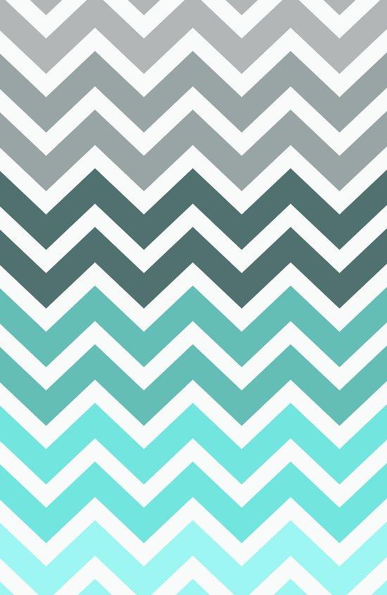 Tiffany Fade Chevron Pattern Art Print
