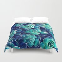 Plants of Blue And Green Duvet Cover