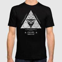 Legend Of Zelda Kingdom … Mens Fitted Tee Black SMALL