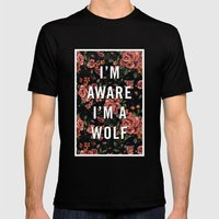 I'm Aware I'm A Wolf Mens Fitted Tee Black SMALL