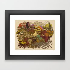 Smoke to ONEness Framed Art Print