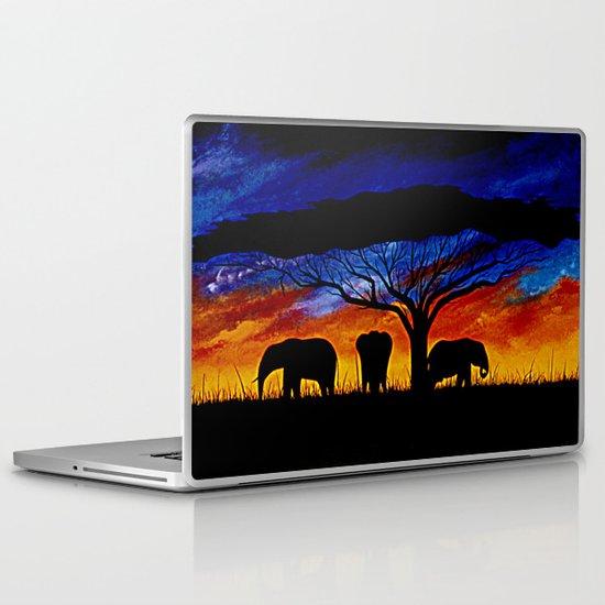 Sunset Elephants Laptop & iPad Skin