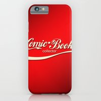 iPhone & iPod Case featuring Comic Book Collector (Coke Style) by AWOwens