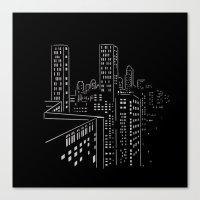 City nights, city lights Canvas Print