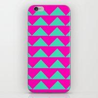 Neon Pink & Aqua iPhone & iPod Skin