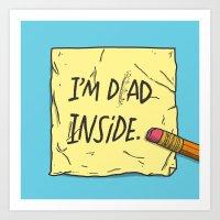 I'm Dad Inside Art Print