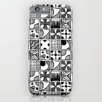 Black and White Abstract Squares iPhone 6 Slim Case
