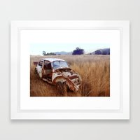 Rusty, broken and forgotten Framed Art Print