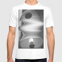Lamp Mens Fitted Tee White SMALL