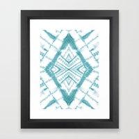 Dye Diamond Sea Salt Framed Art Print