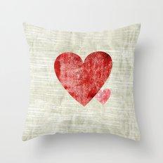 Shy little heart Throw Pillow