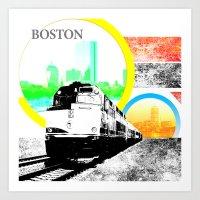 Locals Only - Boston Art Print