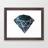 Starry Night Gem Framed Art Print