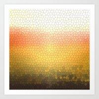 orange sparkle Art Print