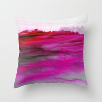 Purple Clouds Red Mounta… Throw Pillow