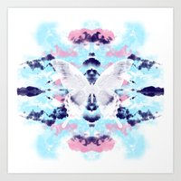 White Butterfly  Art Print