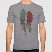 Bouffant Birds Mens Fitted Tee Athletic Grey SMALL