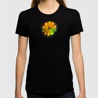 Orange Orchard Womens Fitted Tee Black SMALL
