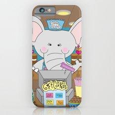 Elsa in the Coffee Shop  - Fun, sweet, creative and colorful, original,digital children illustration Slim Case iPhone 6s