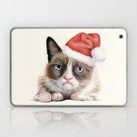 Grumpy Santa Cat Laptop & iPad Skin