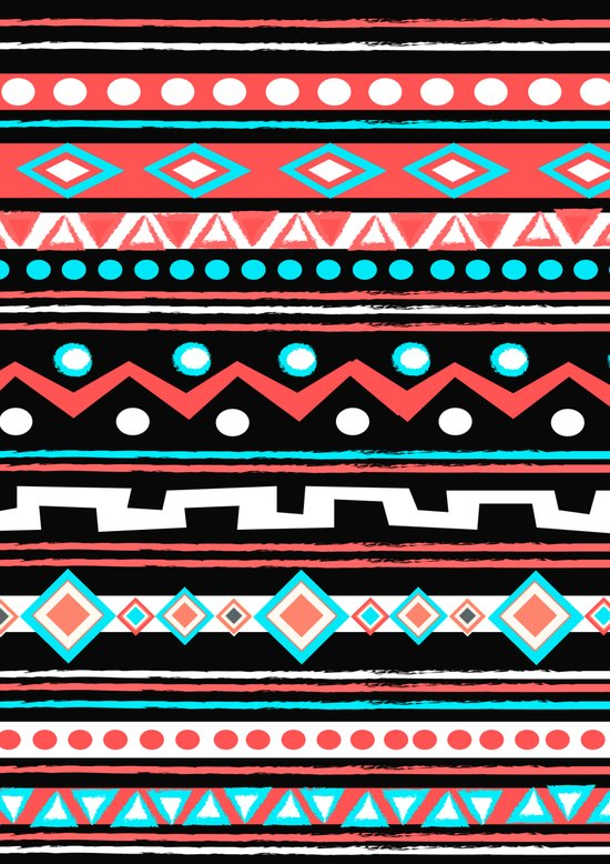 BLACK TIPI Art Print