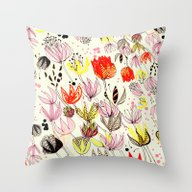 Seed Pods 50's Style Throw Pillow