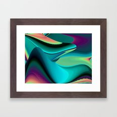 Futuristic, Abstract Rainbowart 6 Framed Art Print