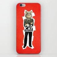 Cat Person iPhone & iPod Skin