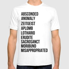 Zachary Quinto and Chris Pine want to enrich YOUR vocabulary. SMALL White Mens Fitted Tee