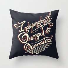 Independently Owned & Operated Throw Pillow