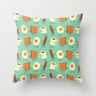 Throw Pillow featuring Let's All Go And Have Br… by Teo Zirinis