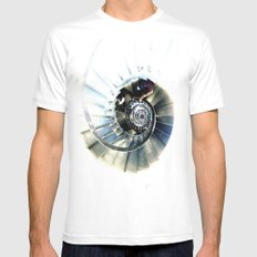 Winding Mens Fitted Tee White SMALL