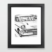 Vintage Car Black And Wh… Framed Art Print