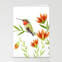 Ruby Throated Hummingbir… Stationery Cards