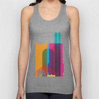 Shapes of Boston. Accurate to scale Unisex Tank Top