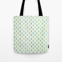 Simple Pine Tree Forest Pattern Tote Bag