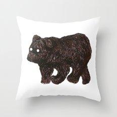 blind as a bear Throw Pillow