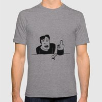 Vodka Mens Fitted Tee Athletic Grey SMALL