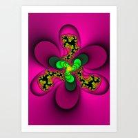 Toxic Flower Art Print